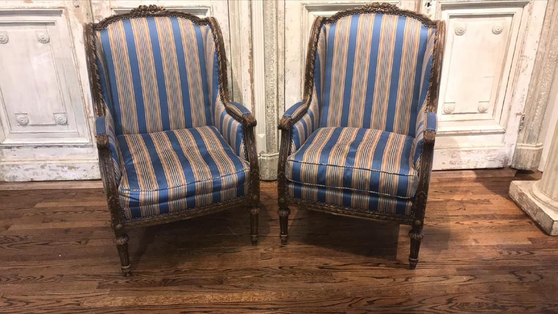 Pair Of 19th Century French Armchairs.