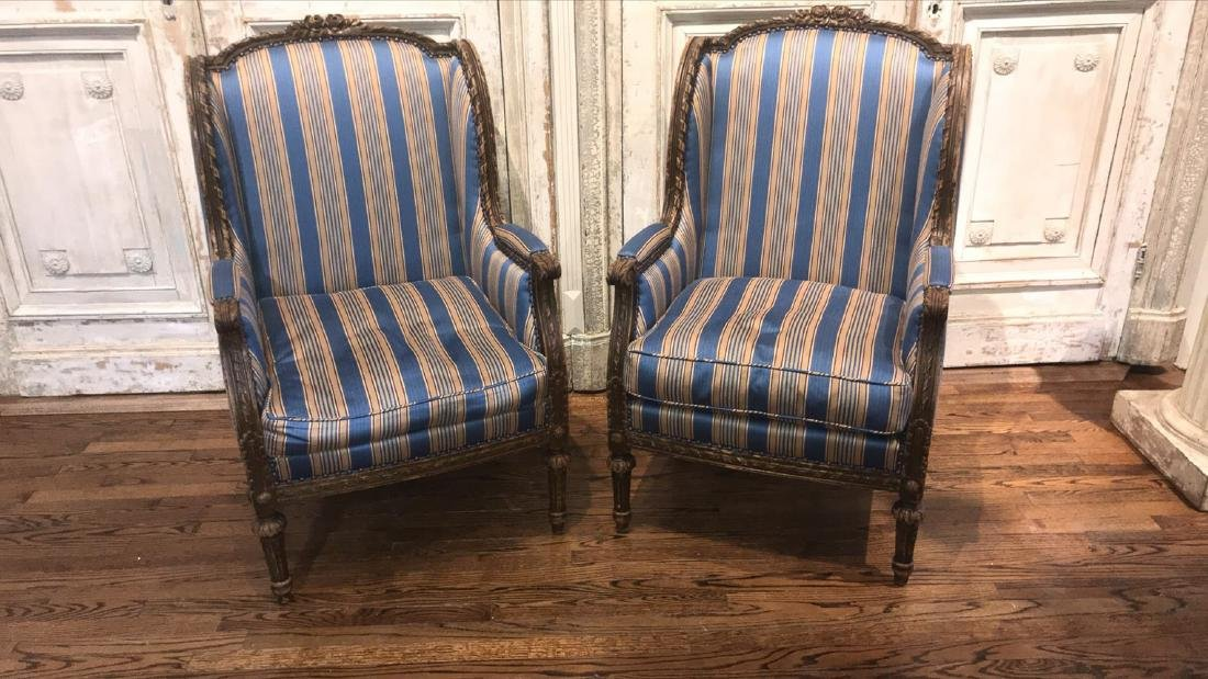 Pair Of 19th Century French Armchairs. - 2