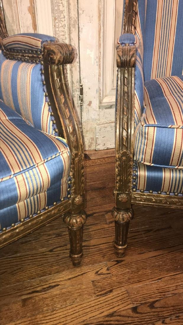 Pair Of 19th Century French Armchairs. - 4