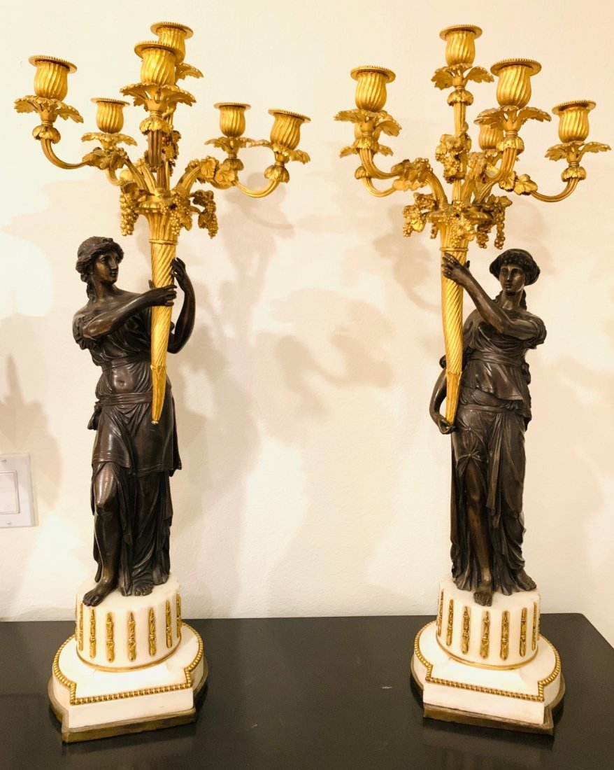 19th Century Pair Of French Candelabra.
