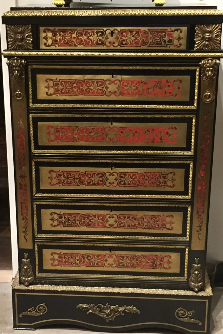 19th Century French Boulle Chest.