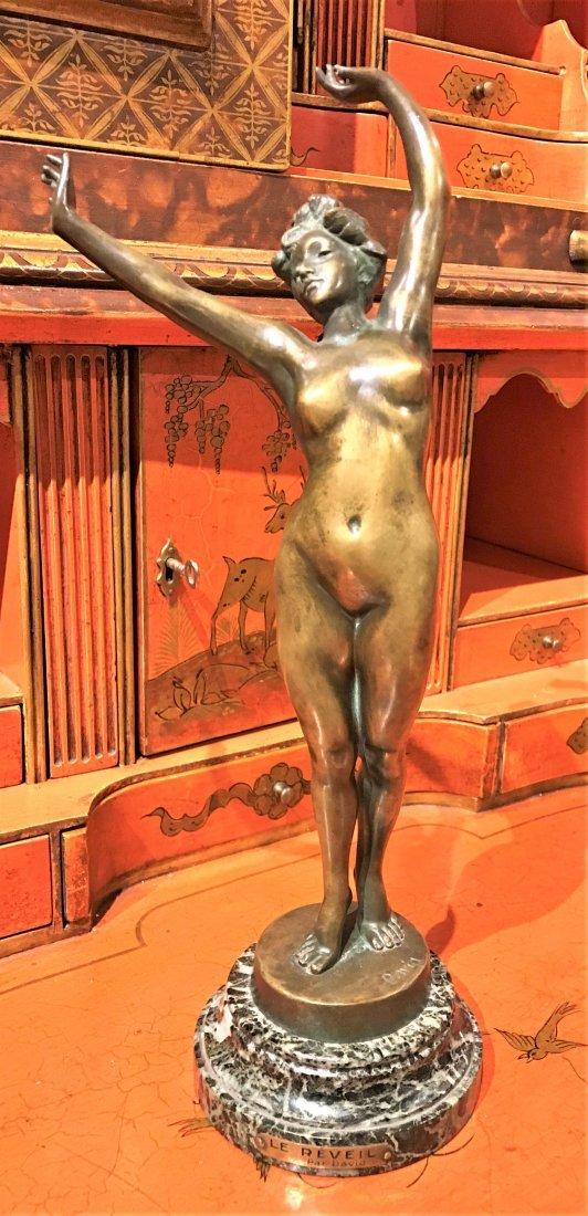 French Art Deco Bronze Nude.