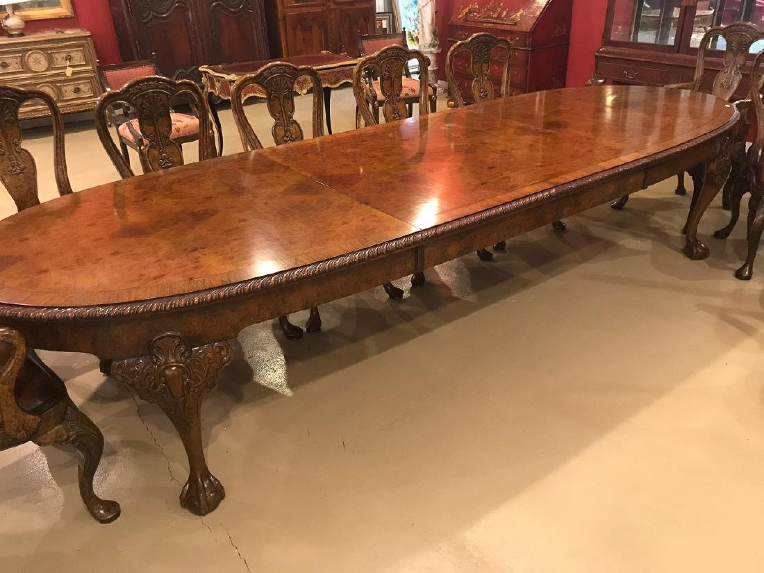 Chippendale Style Dining Table.
