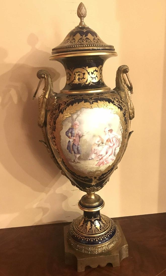 Antique French Sevres Cobalt Vase. - 2