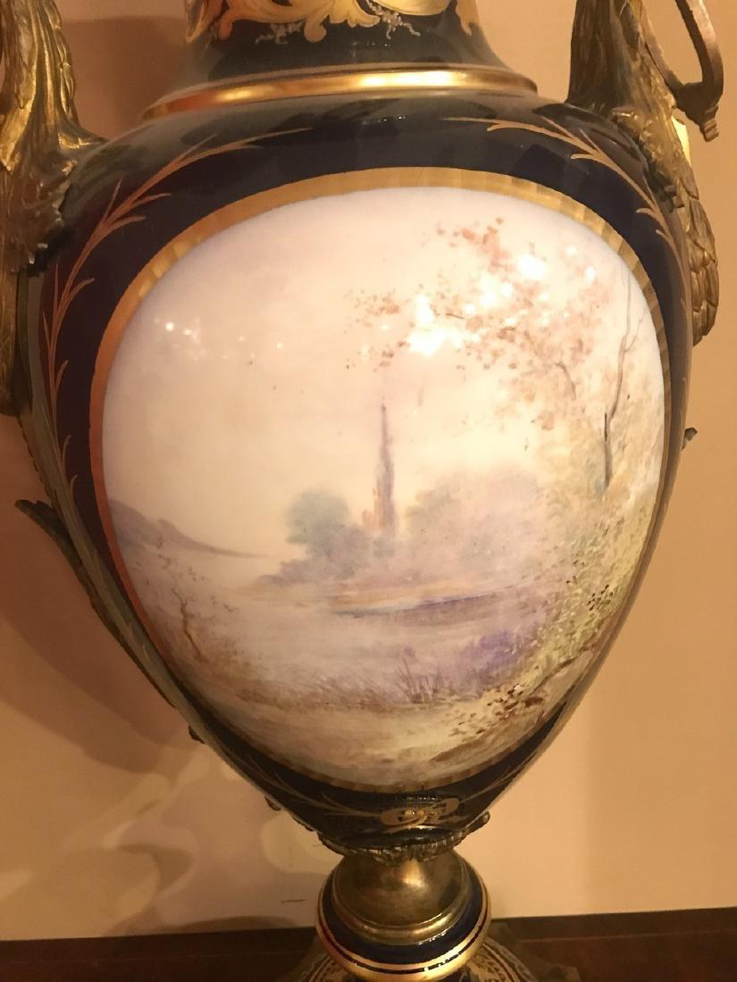 Antique French Sevres Cobalt Vase. - 8