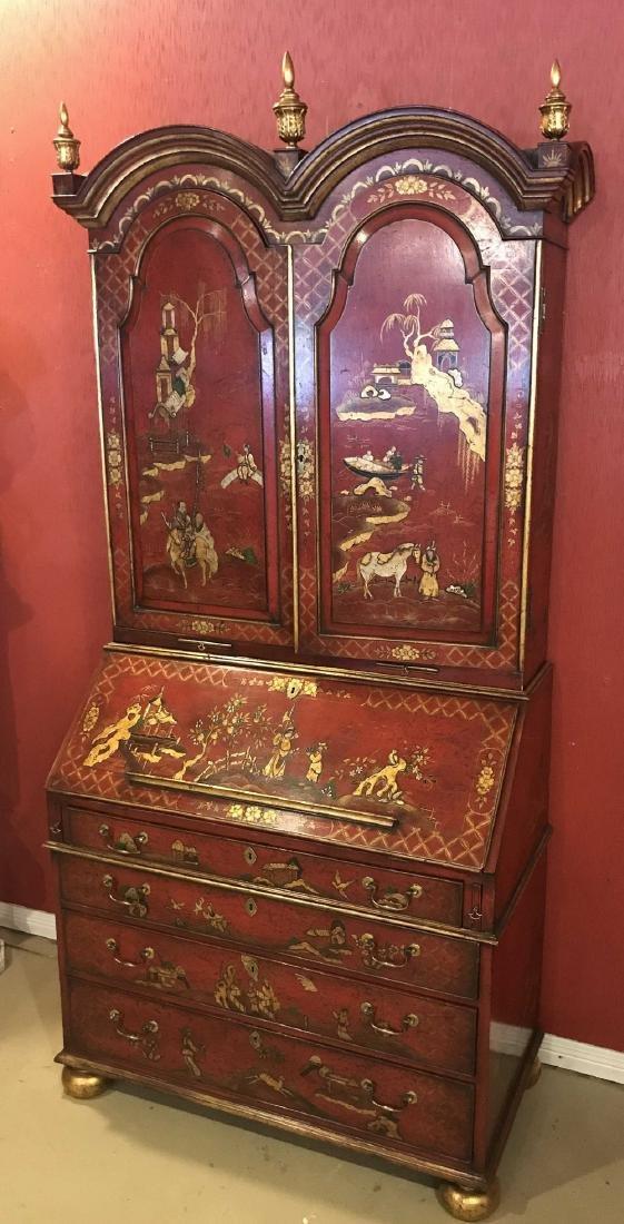 English Queen Anne Bureau Bookcase. - 3