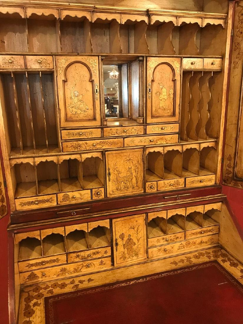 English Queen Anne Bureau Bookcase. - 7