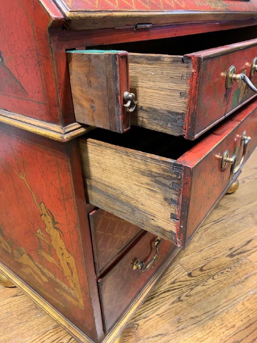 English Queen Anne Bureau Bookcase. - 9