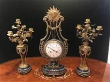 Antique French Clock Garniture.