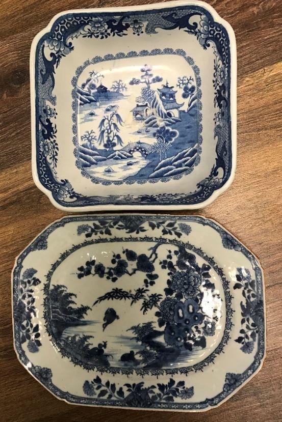 2 Pieces Of Canton Porcelain.