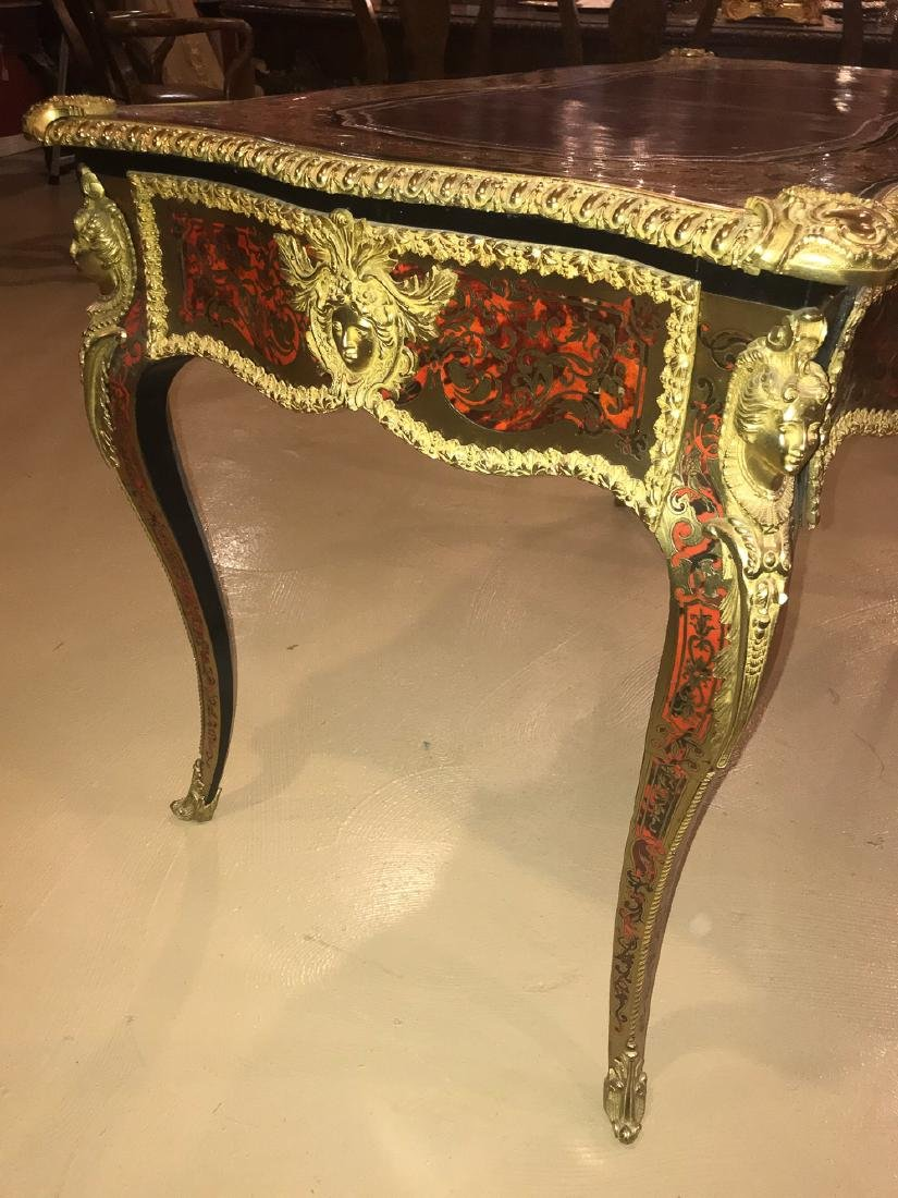 French Boulle Writing Desk, Signed. - 3