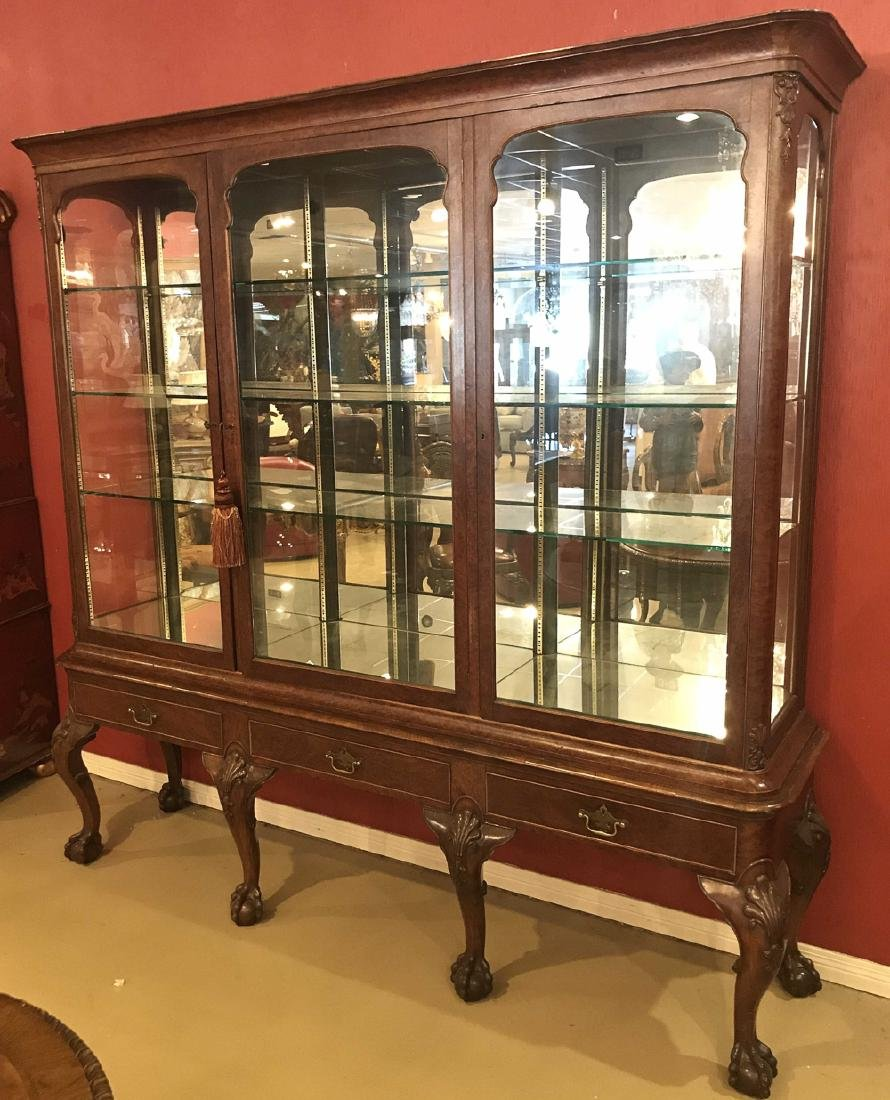 English Chippendale Display Cabinet.