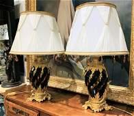Pair Of Italian Crystal Lamps By Baldi
