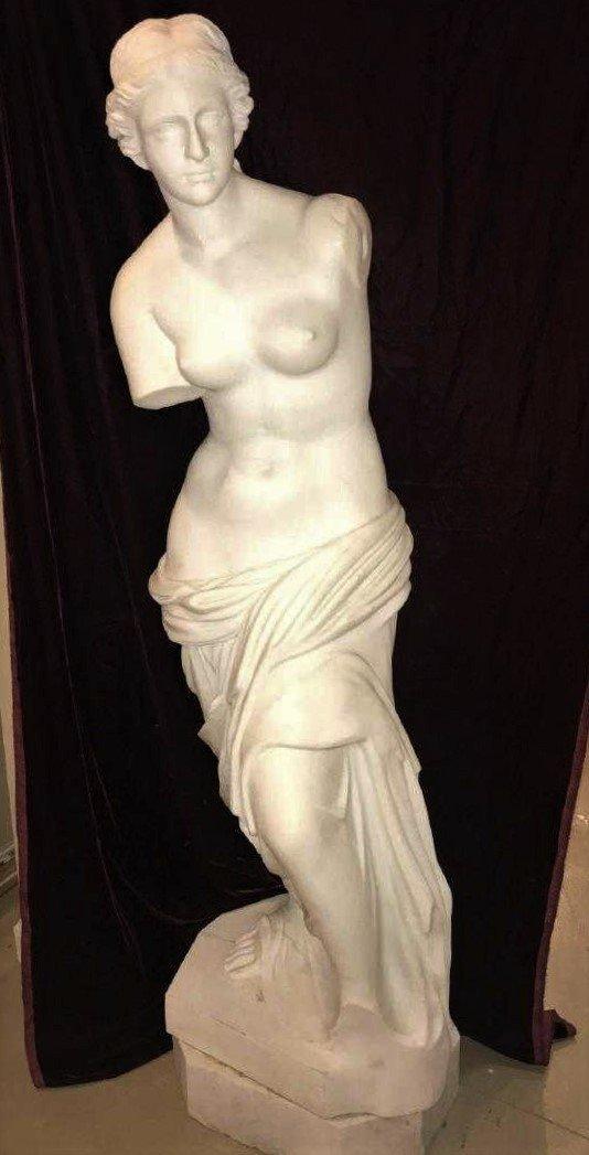 Carrara Marble Statue Of Venus.