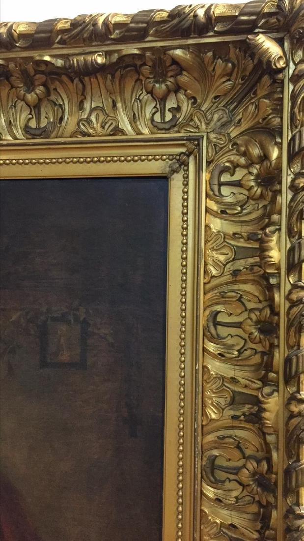 Palace size 19th Century French Interior Oil Painting. - 10