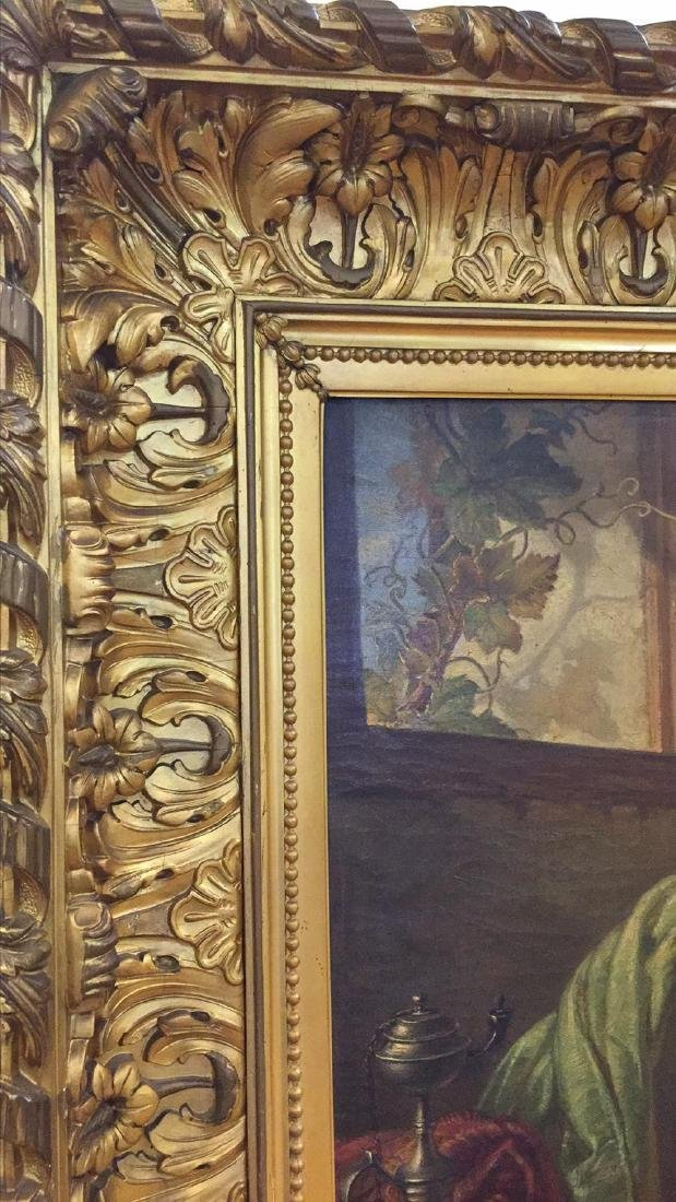 Palace size 19th Century French Interior Oil Painting. - 4