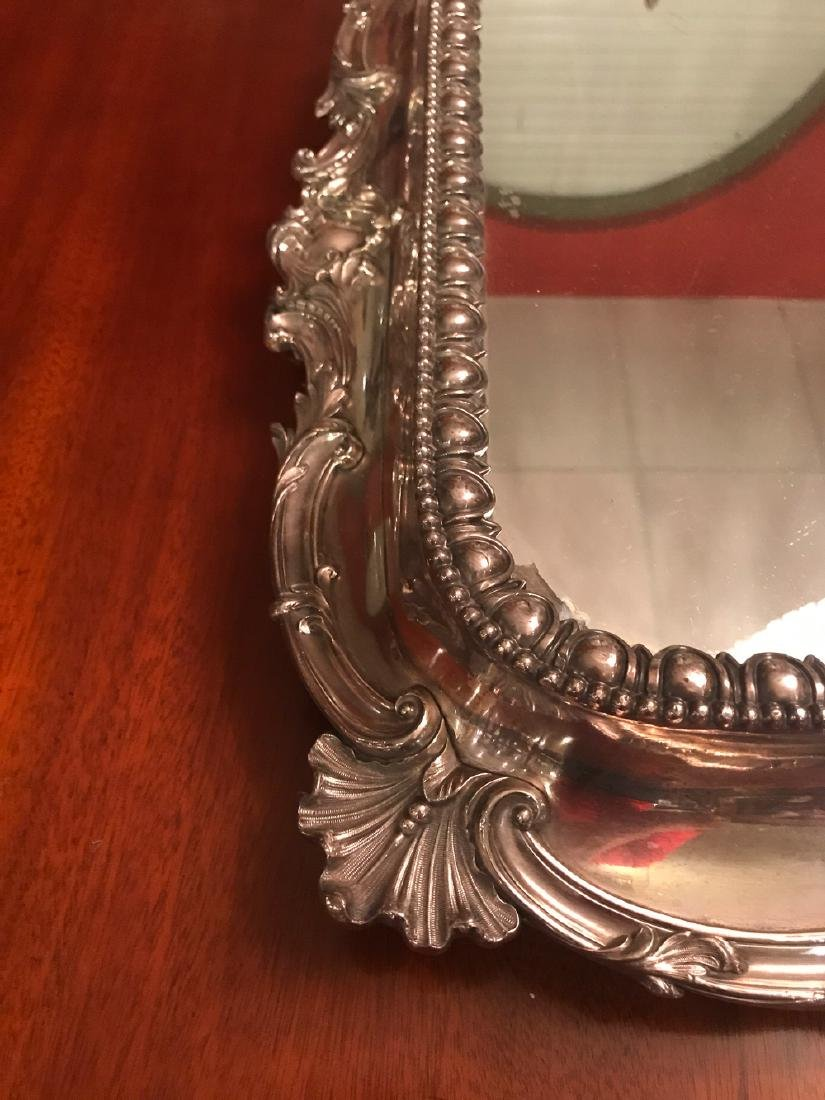 Fabulous American Silver Plated Plateau Mirror. - 5