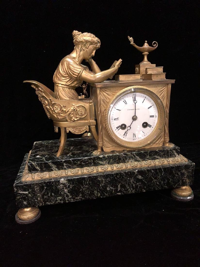 19th Century French Bronze Clock.