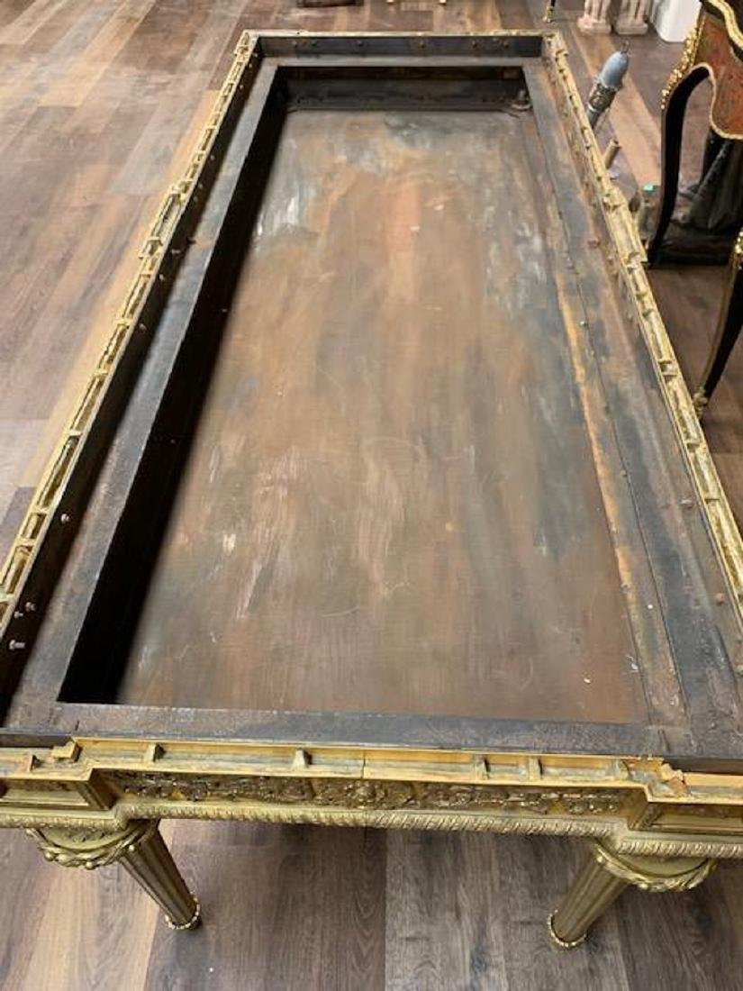Antique French Bronze Console Table, Malachite top. - 8