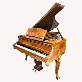 French Kingwood Grand Piano. - 9