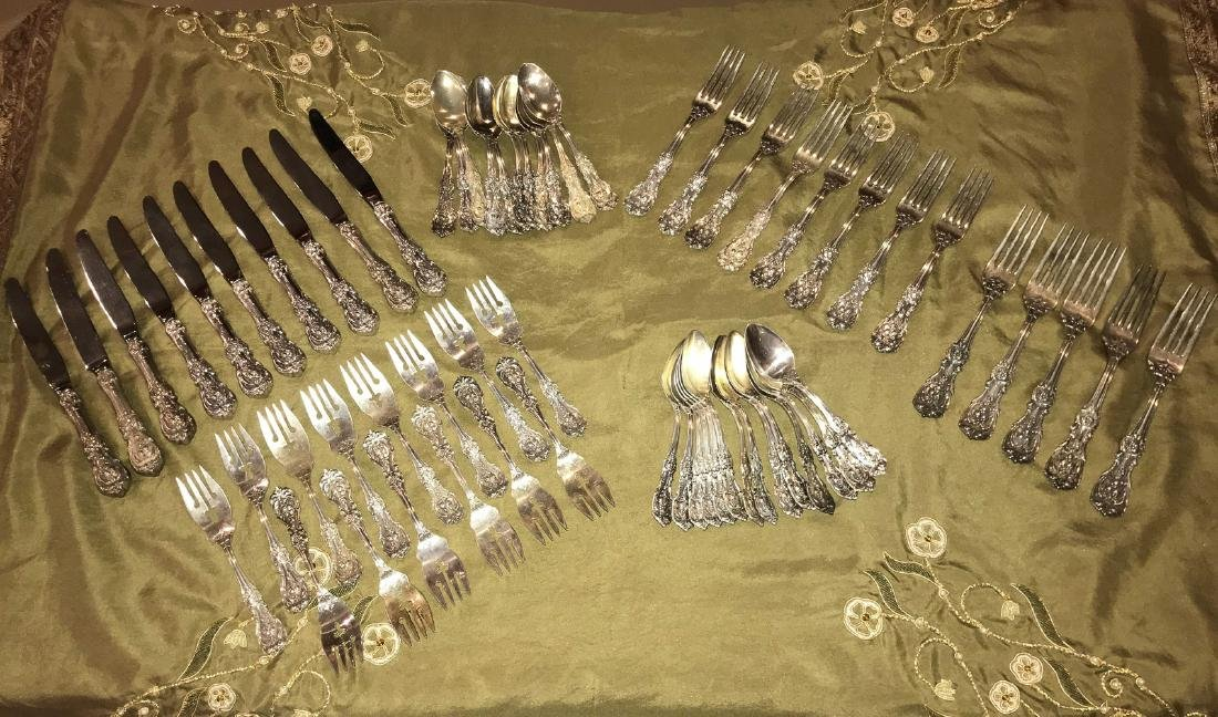 62 Pieces Of Sterling Flatware.