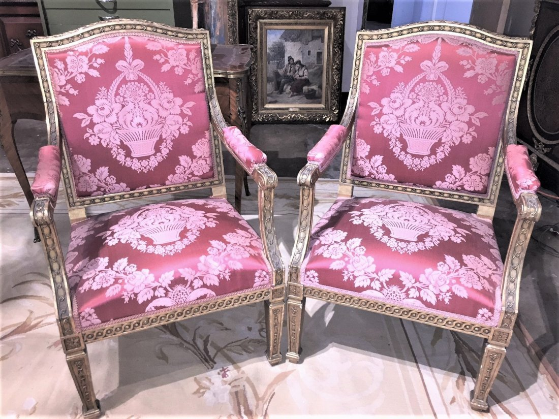 Pair Of French Armchairs.