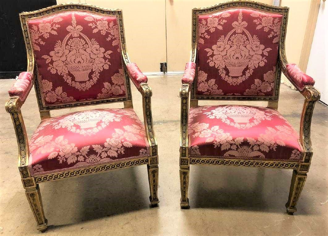 Pair Of French Armchairs. - 3