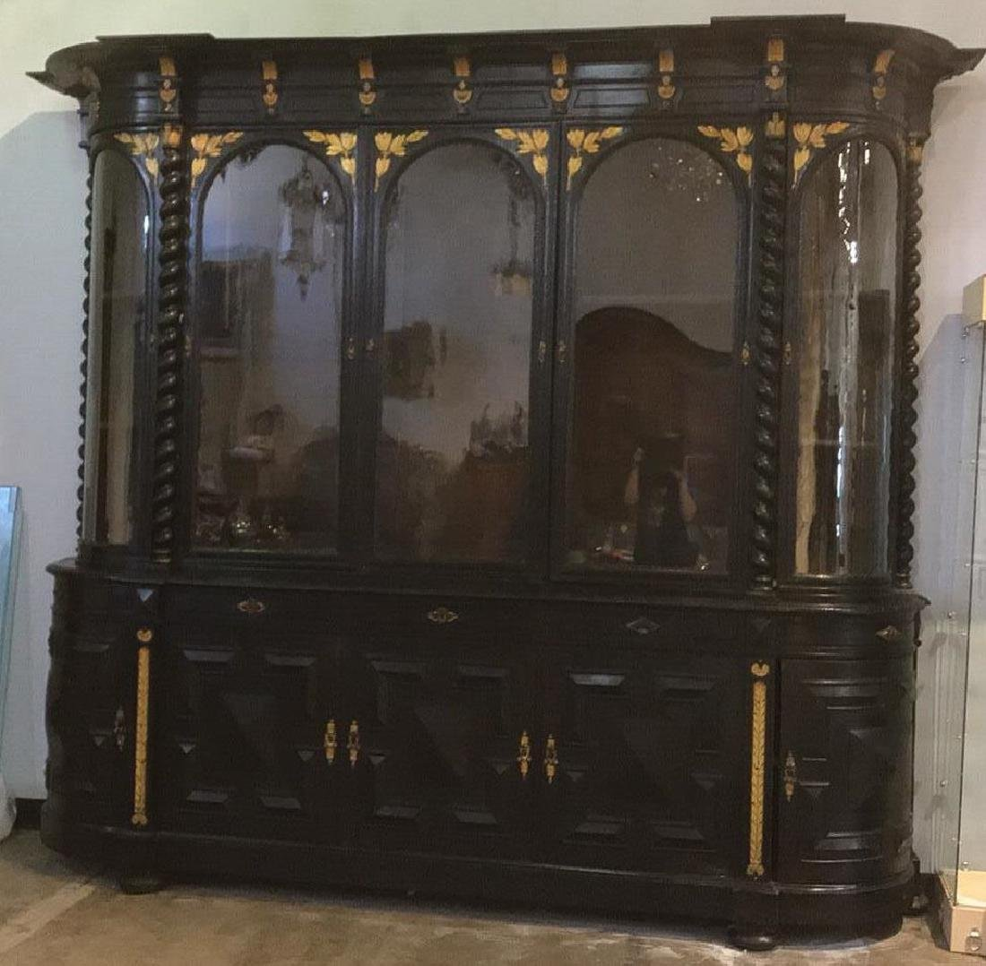 Large Continental Oak Cabinet - 3