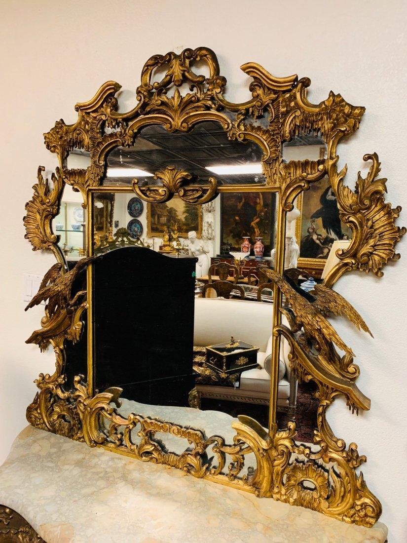 19th Century English Gilt Wood Mirror.