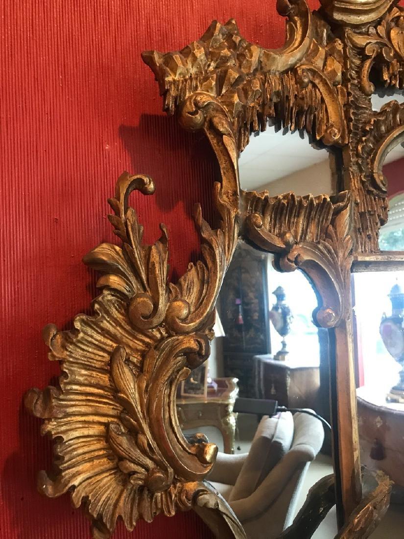 19th Century English Gilt Wood Mirror. - 3