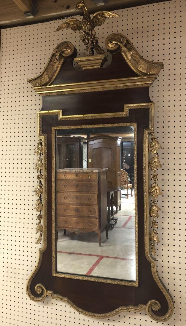 English Parcel Gilt Mirror.