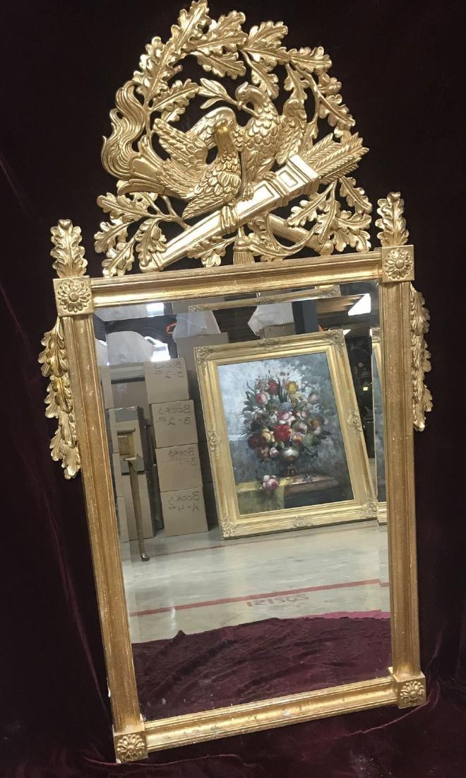 Italian Gold Gilded Mirror.