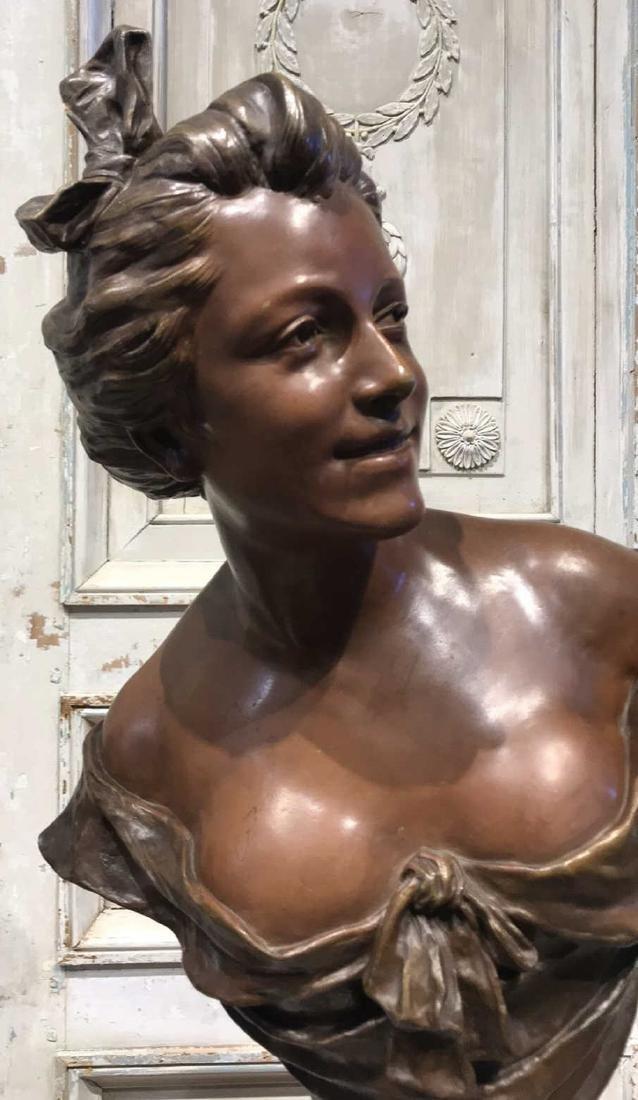 Antique Flemish Bronze Bust - 2