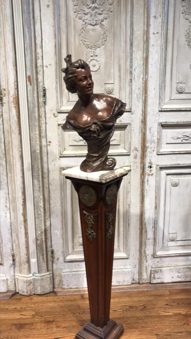 Antique Flemish Bronze Bust - 3