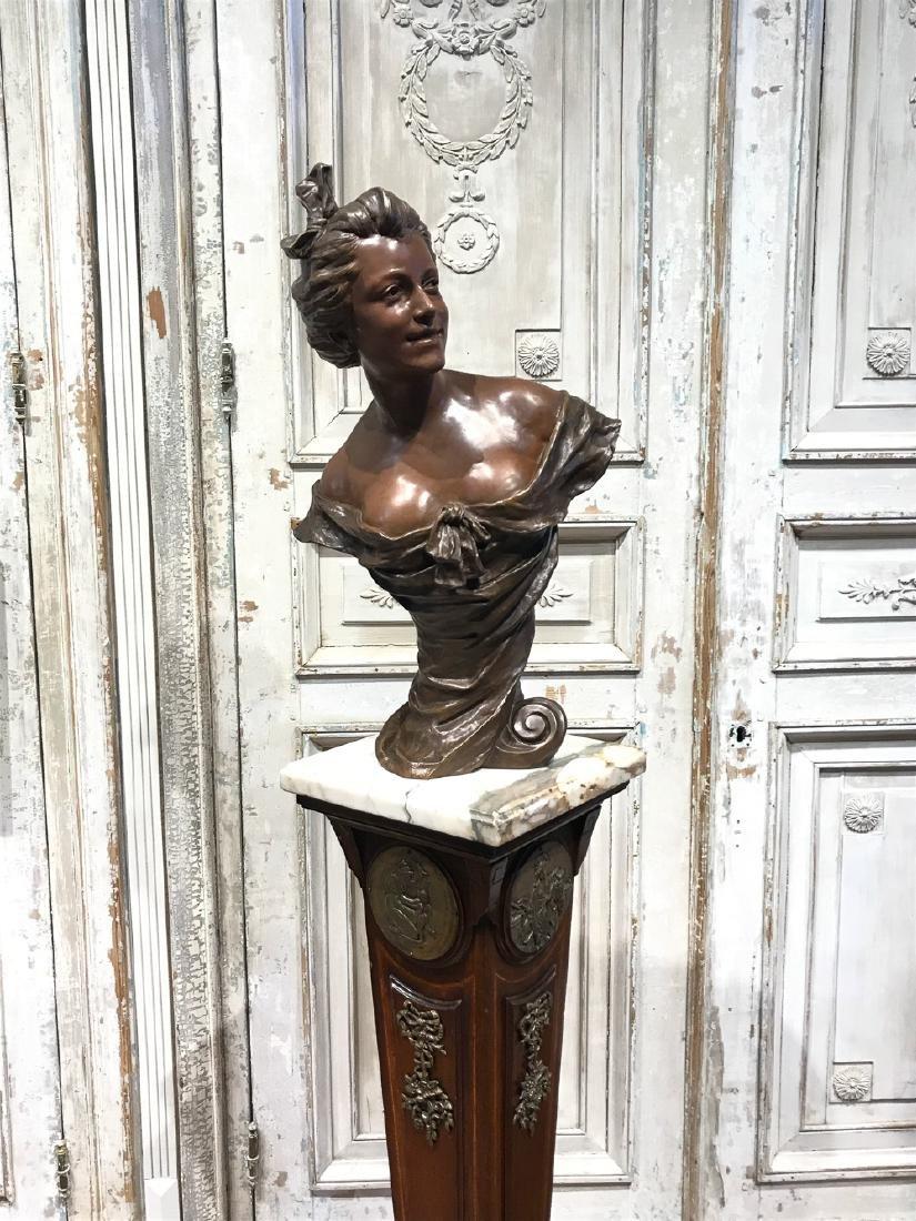 Antique Flemish Bronze Bust - 4
