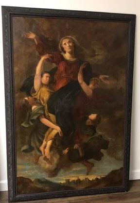 19th Century Religious Oil Painting.