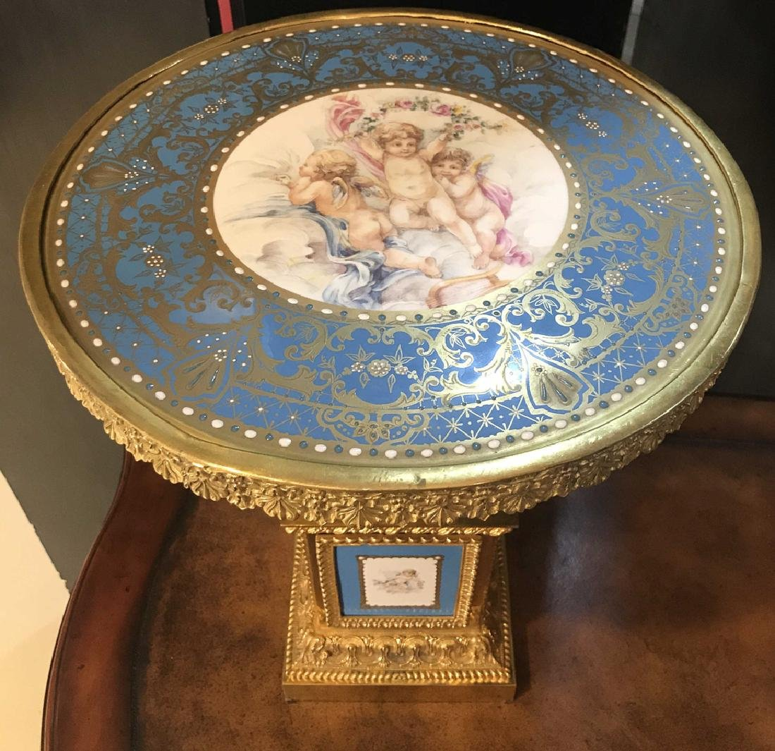 Pair Of French Sevres Porcelain Tazzas. - 2