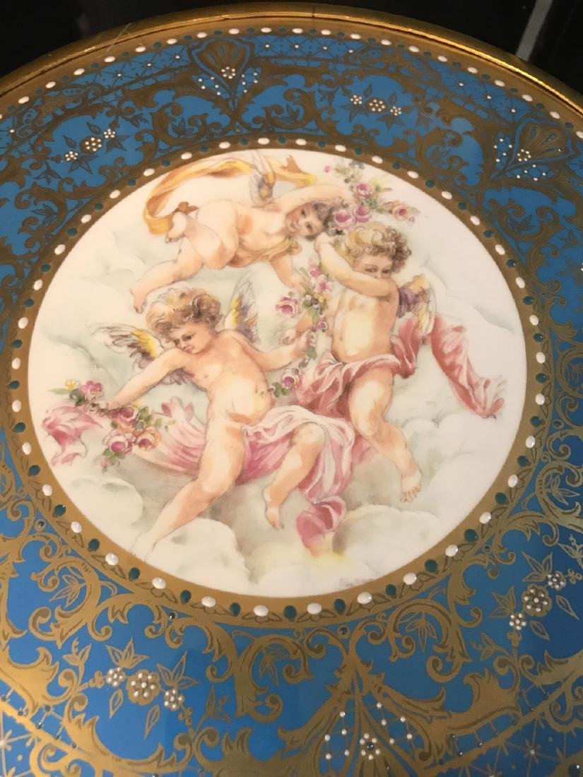 Pair Of French Sevres Porcelain Tazzas. - 4