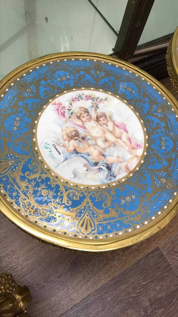 Pair Of French Sevres Porcelain Tazzas. - 8