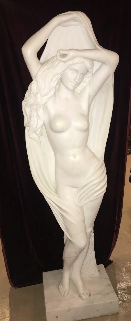 Italian Marble Maiden Sculpture. - 2