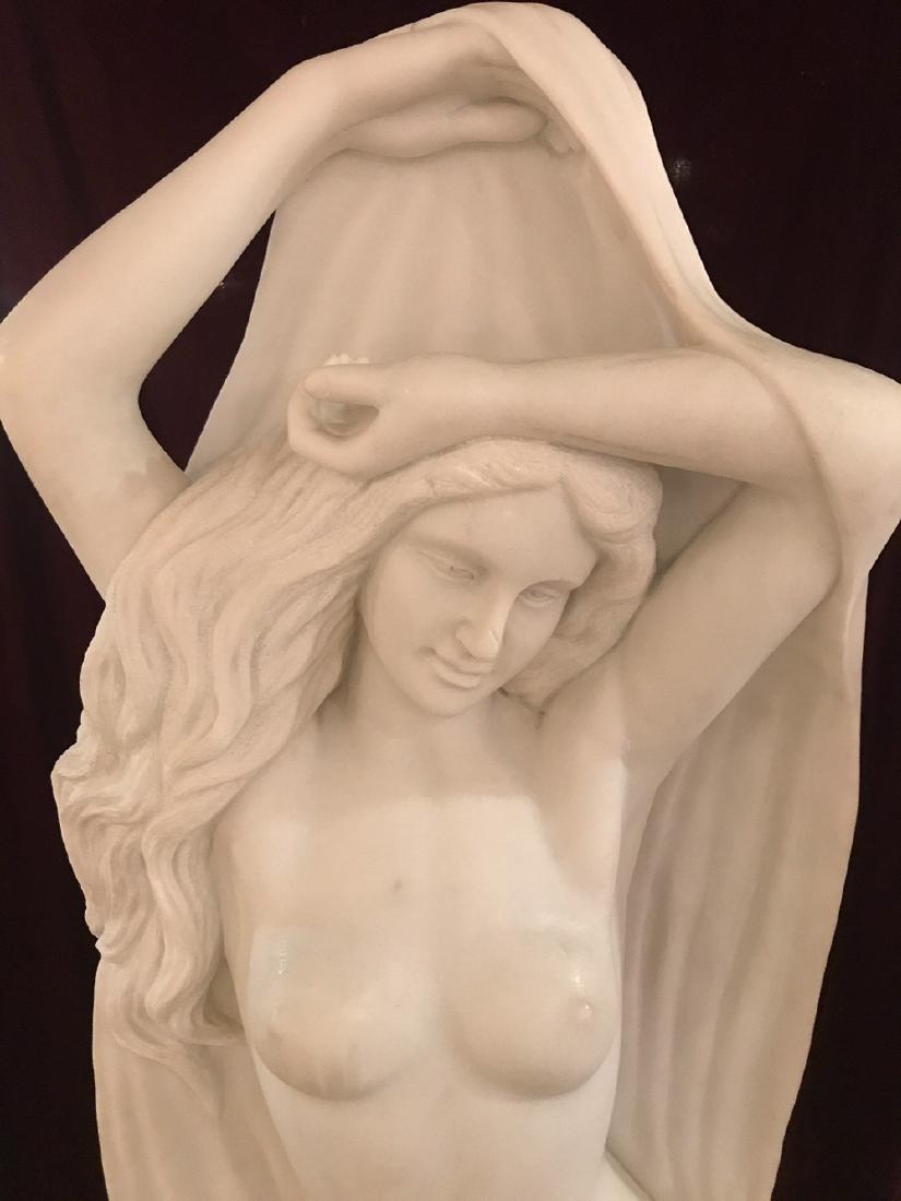 Italian Marble Maiden Sculpture. - 3