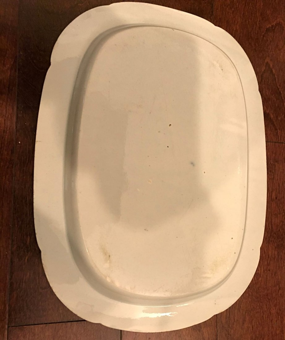 Chinese Export blue and white platter - 2