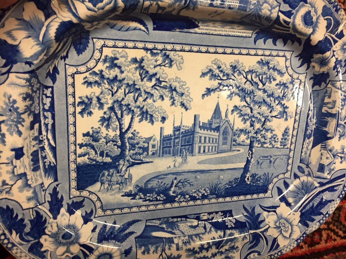 3 Antique English Staffordshire Platters - 4