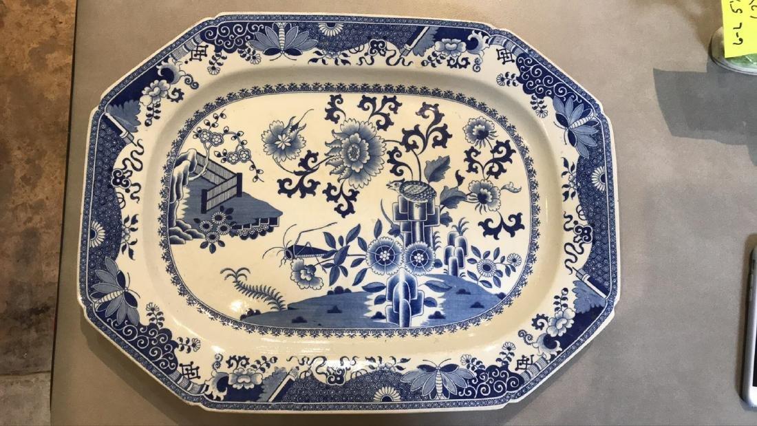 2 Antique English Spode China Platters. - 3
