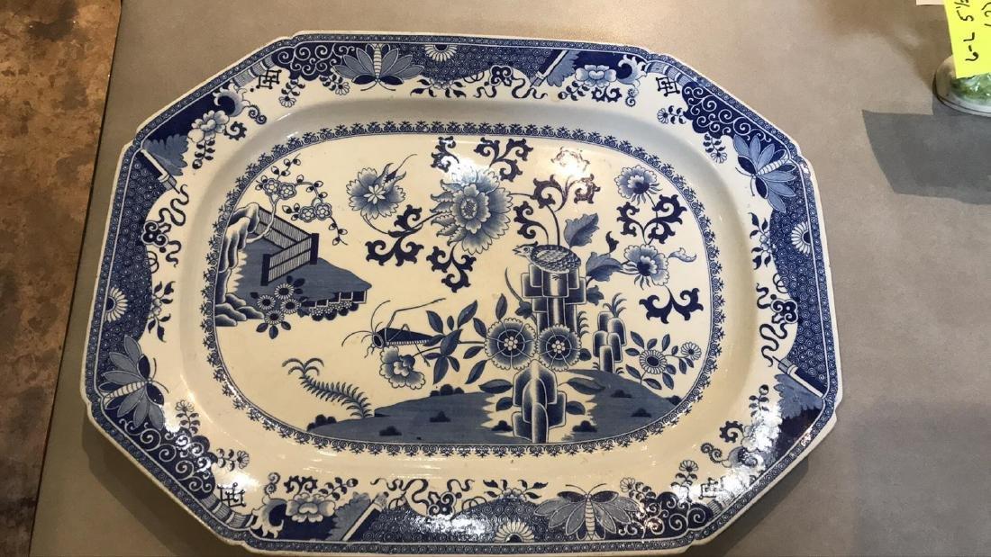 2 Antique English Spode China Platters. - 4