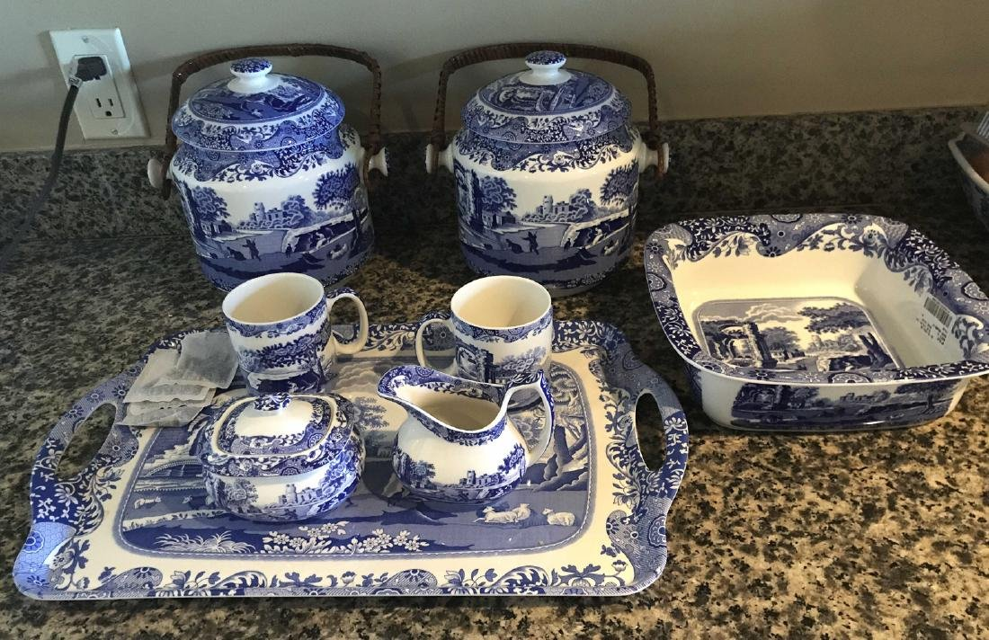 8 Pieces Of Italian Spode China.