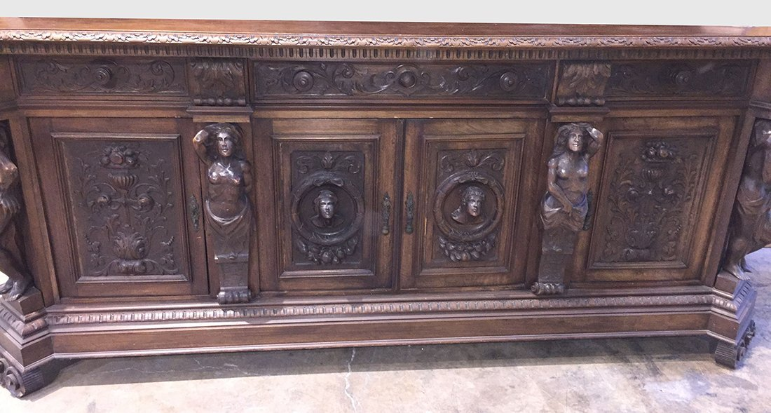 Large Henri II Sideboard