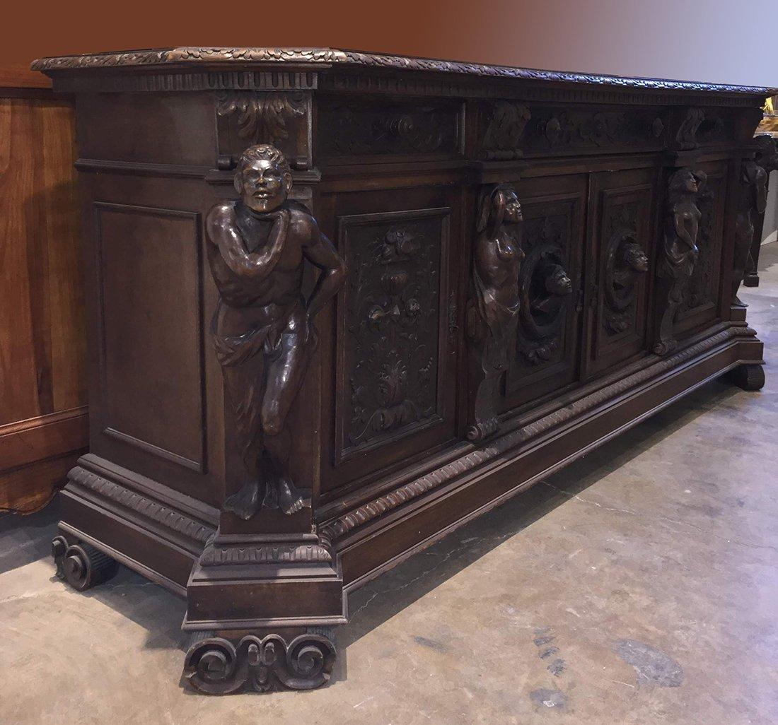 Large Henri II Sideboard - 4