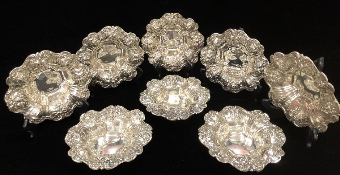 8 Francis I Sterling Silver Bowls.
