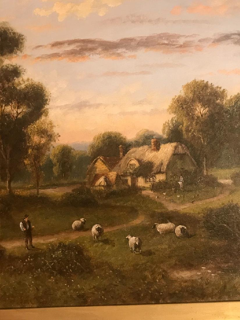 Antique English Oil On Canvas Painting. - 2